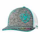 ARIAT Heather Gray  Baseball CAP  YOUTH, Mesh Back, OSFM Adjustable Snap-Back