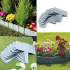 30pcs Stone Effect Plastic Pickets Lawn Fence Post Grass Edging Border Garden Uk