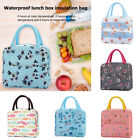 Waterproof Printing Lunch Bags Portable Thermal Insulated Thickened Bento Totes