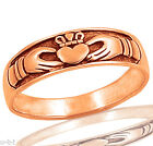 Rose Gold Plated Celtic Claddagh Heart Sterling Silver Ring