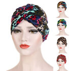 Stretchy Turban Hat Head Wrap Band Womens Chemo Bandana Hijab Pleated Indian Cap