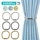 2/4pcs Curtain Tie Backs Magnetic Ball Buckle Holder Tieback Clips Home Window