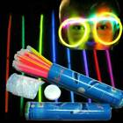 10 Glow Sticks Glowing Light Sticks Wrist Bands Pack with Connectors Party event