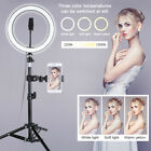 "10"" LED Ring Light Camera Lamp+Tripod Stand Opt Phone Holder For Video Live US"