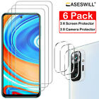 For Xiaomi Redmi Note 9S 9 10 Pro Max HD-Clear Tempered Glass Screen Protector