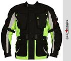 SALE Buffalo Samurai 2 Black Neon Motorcycle Jacket Scooter Motorbike Touring