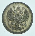 SILVER+Roughly+the+Size+of+a+Dime+1908+Russia+10+Kopecks+World+Silver+Coin+%2A440