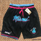 Short Miami Heat Black Shorts Pocket All Sewn S-2XL on eBay