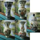 DELFTS ROYAL SPHINX HOLLAND VASES HAND PAINTED POLYCHROME BLUE PICK 1