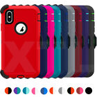 Shockproof Hard Case Cover Iphone Xr X Xs Max [belt Clip Fits Otterbox Defender]