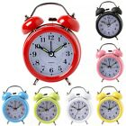 Cute Alarm Clock Desktop Metal Bedroom Table Home Decoration With Night Light