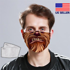 Chewbacca Face Mask Star Wars Mask Fabric Reusable Washable USA Made $17.99 USD on eBay