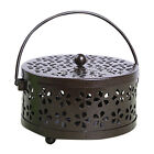 FixedPricemetal with handle classical home case hollowed mosquito coil holder anti scald