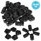 30/60 Toggle Cord Stopper Locks End Drawstring Plastic Spring Loaded Hole Button