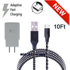 For Samsung Galaxy S6 S7 Edge Note 5 Note 4 Fast Wall Charger Micro USB Cable