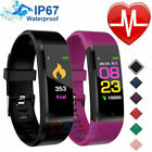 Smart Watch Fit**bit Waterproof Heart Rate Fitness Step Caolorie Tracker Monitor