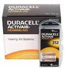 Duracell Hearing Aid Battery Size 312 (60 Cells - 180 Cells)