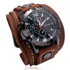 Retro Hand Stitched Watches Cross-border Supply Exaggerated Men Leather Bracelet
