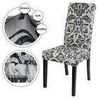 1/4/6Pcs Spandex Stretch Dining Home Decor Chair Covers Printed Seat Slipcovers