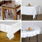 Clear PLASTIC Vinyl TABLECLOTH Protector Table Cover Catering Home Party Dinner
