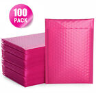 Bubble Mailers Padded Envelopes Lined Poly Mailer Self Seal Hot Pink 100Pcs Lot