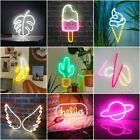 Large 3D Neon Sign Light LED Wall Visual Art Decor Club Shop Bedroom Lamp Gifts
