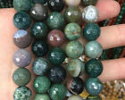 Wholesale Natural Gemstone Beads Indian Agate Faceted Beads Round 6/8/10/12mm