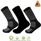 Mens Work Socks Crew Heavy Duty Reinforced Cushion Industrial Cotton Rich Xelay®