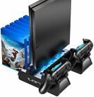 Vertical Cooling Stand with Controller Charging Dock Slots For PS4 / Slim / Pro