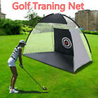 10FT/7FT Golf Net Training Aid Hitting Practice Lawn Driving Range Cage Exercise