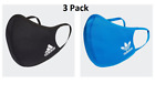 adidas Adult Face Cover Facemask One Size Fits All - 3 Pack Medium/Large
