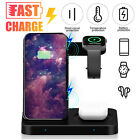 Wireless Charging Dock 3in1 Fast Charger Station for Apple iWatch iPhone Samsung