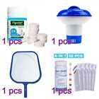100g Cleaning Tablet Swimming Pool Chlorine Dispenser Test Paper Salvage Net Set