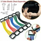 Adjustable 5-Spring Rubber Chest Expander Pull Stretcher Muscle Home Training image
