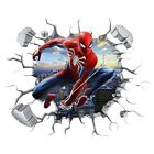 3D Marvel Spiderman Hole In Wall Sticker Art Decal Decor Kids Bedroom Decoration