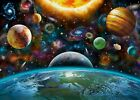 Mysterious Solar System Vinyl Backdrop Cosmic Planets Background Studio Props