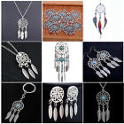 Feather Tassels Dream Catcher Necklace Pendant Keyring Keychain Charm Jewelry