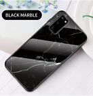 For Samsung Galaxy Note20 S20 A51 A71 A01 A21 A81/91 Marble Back Glass TPU Case