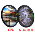 CPL ND2-ND1000 Polarizer Variable ND Filter 52mm 58mm 67mm 77mm Camera Lens 400