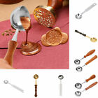Vintage Wooden&Stainless Steel Handle Wedding Invitation Stamp Sealing Wax Spoon
