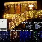 Christmas Droop Curtain Icicle Outdoor Indoor String Decoration LED Fairy Lights