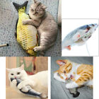 USB Electric Moving Fish Realistic Toy Cat Pet Catnip Gift Kitty Wagging Toys UK