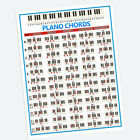 PIANO KEYBOARD CHORDS POSTER BEGINNERS LEARNING WALL POSTERS