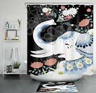 Mandala Colorful Floral White Elephant Waterproof Fabric Shower Curtain Set 72
