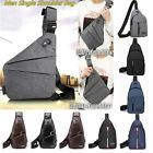 Men Chest Bag Pack Travel Sport Shoulder Sling Backpack Cross Body Outdoor Bag @