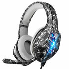 RGB LED Stereo Surround Gaming Headset Adjustable Mic Headphone for PS5/Xbox One