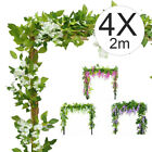 4x2m Artificial Silk Rose Flower Leaves Vine Leaf Garland Foliage Home Decor Au
