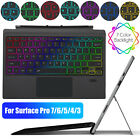 RGB Backlit Wireless Cover Magnetic Keyboard for Microsoft Surface Pro 7/6/5/4/3