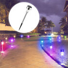 24PCS Stainless Steel LED Solar Lawn Path Light Garden Landscape Lamp Waterproof