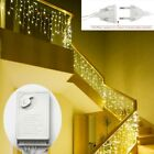 220V Christmas Stairs Garland LED Curtain Icicle String Light Hanging Home Decor